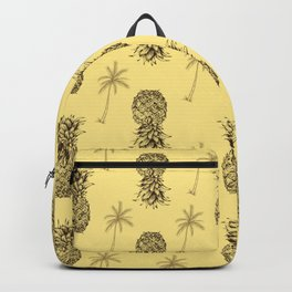 Retro Pineapple Pattern Backpack