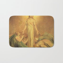 Jesus Christ by William Blake Bath Mat