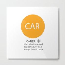 Carer Metal Print
