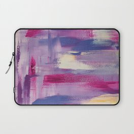 Dramatic sunset: minimal, acrylic abstract painting in purple, magenta and violet / Variation Three Laptop Sleeve