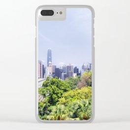Hongkong Skyline 12 Clear iPhone Case