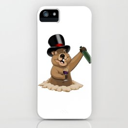 Groundhog Wine iPhone Case