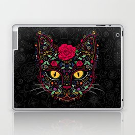 Day of the Dead Kitty Cat Sugar Skull Laptop & iPad Skin