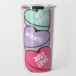 No Hate Just Love Travel Mug