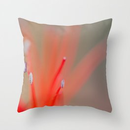 Abstract flower stamens close up. Throw Pillow