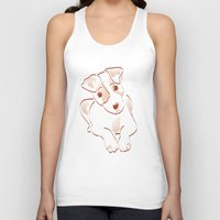 jack russell Tank Tops featuring Jack russell by 1 monde à part