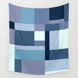 Abstract #387 Blue Harmony Wall Tapestry
