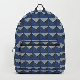 Blue + Gray Origami Geo Tile Backpack