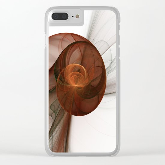 Abstract Art Fractal Fantasy Figure Clear iPhone Case