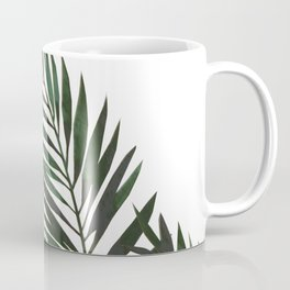 Palm Leaves Green Coffee Mug