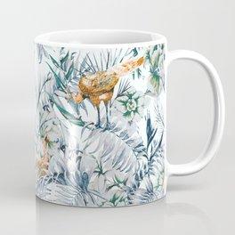 Peacock among the leaves 01 Coffee Mug