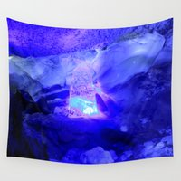 russia Wall Tapestries featuring Polar grotto, Kungur Ice Cave, Russia by Svetlana Korneliuk
