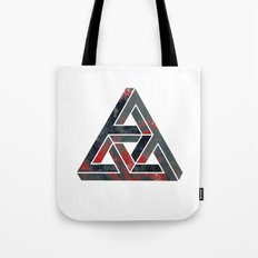 impossible triangle red Tote Bag