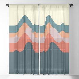 Minimalist Mountain Sheer Curtain