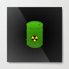 atomic waste barrel Metal Print