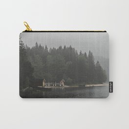 Foggy mornings at the lake II - landscape photography Carry-All Pouch