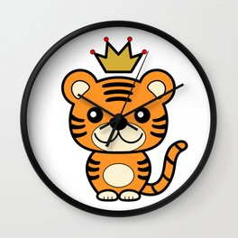 King of Tigers Wall Clock