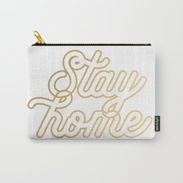 Stay home (gold) Carry-All Pouch