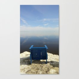 The Blue Chair at the Sea Canvas Print