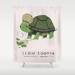 slow cooker Shower Curtain