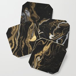 marble black and gold luxury Coaster
