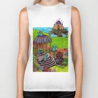 monkey island Biker Tanks featuring Monkey Island by Charlie L'amour