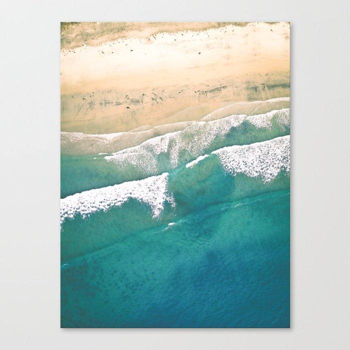 Turquoise Sea Beach Canvas Print