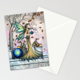 Hope Stones Fairy and Dragons Fantasy Illustration by Molly Harrison Stationery Cards