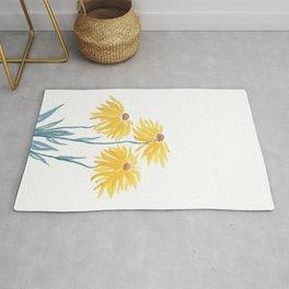 three yellow flowers Rug