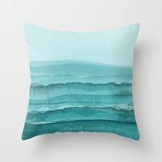 Watercolor Turquoise Sea Throw Pillow