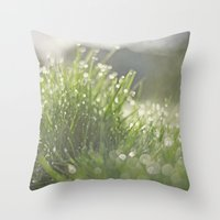 grass Throw Pillows featuring Grass by Pure Nature Photos