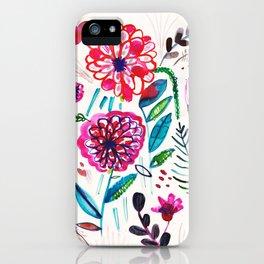 Wild Dahlias iPhone Case