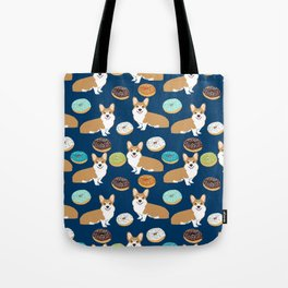 Corgi donuts welsh corgis food desserts doughnuts dog breed corgis Tote Bag