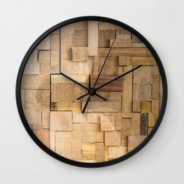 Wood bas-relief Wall Clock