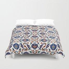 Iznik Pattern Red Blue White Duvet Cover