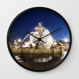 la fontaine des mers Wall Clock
