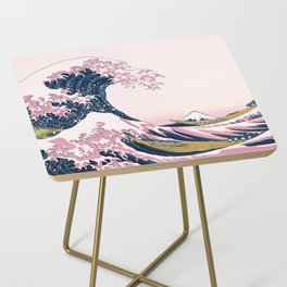 The Great Pink Wave off Kanagawa Side Table