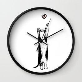 Long-Distance Lovecat Wall Clock