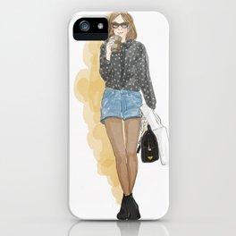 Fashion: coffee love! iPhone Case