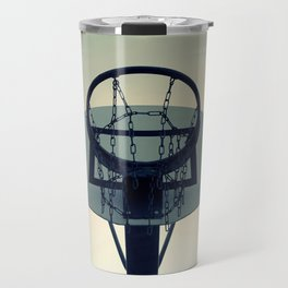 Basketball Sunset Travel Mug