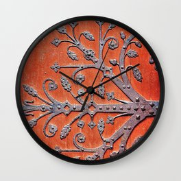 Gothic Red Door Wall Clock