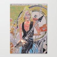 randy c Canvas Prints featuring Randy Rhoads by Robert E. Richards