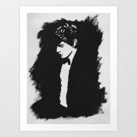 evan peters Art Prints featuring Evan Peters by kristti