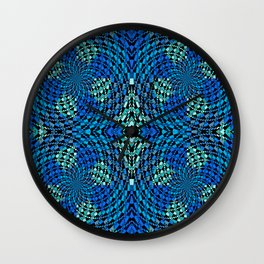 Retro Psychedelic Patchwork Geometry Wall Clock