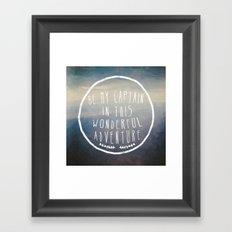 I. Be my captain Framed Art Print