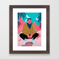 BETWEEN THE MOUNTAINS 3 Framed Art Print