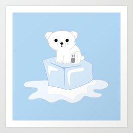 Sitting on Thin Ice Art Print