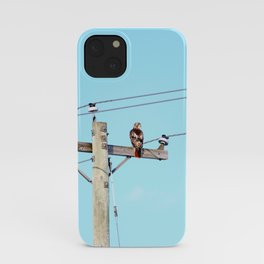 Red Tailed Hawk on Pole iPhone Case