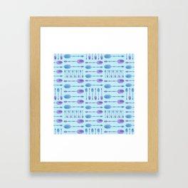 Unique Artsy Spoons! (Light Blue) Framed Art Print