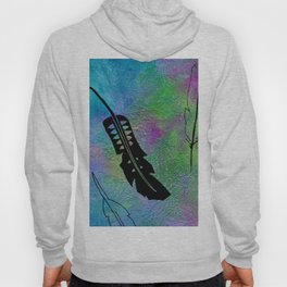 French Kissed Textured Feathers Hoody